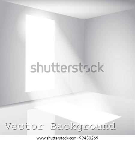 sunny window - stock vector
