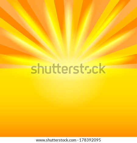 sunset background - vector illustration