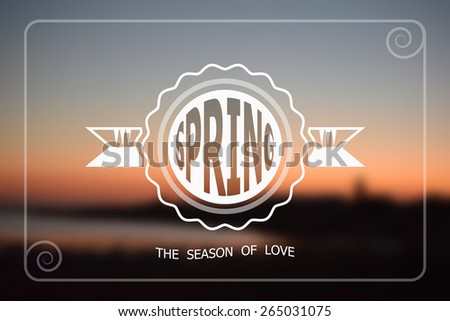 Sunset red is a beautiful nature in the background with use for text. - stock vector