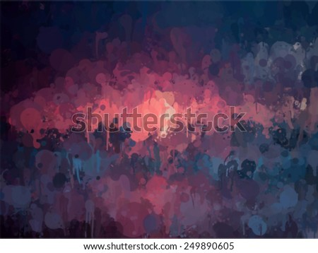 Sunset small brush strokes background. Vector version - stock vector