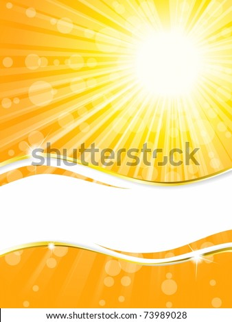 Sunshine banner with transparencies, vertical (EPS10); jpg version also available
