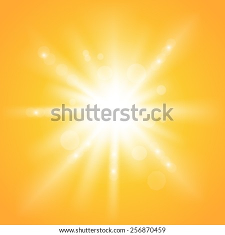 sunshine light burst - stock vector