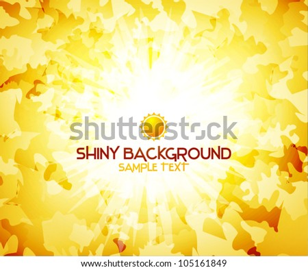 Sunshine yellow abstract background - stock vector
