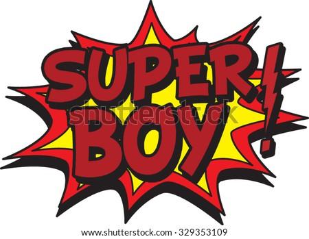 super boy - stock vector
