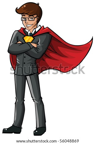 Super businessman - stock vector