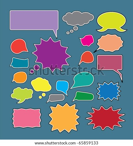 super colorful chat signs. vector