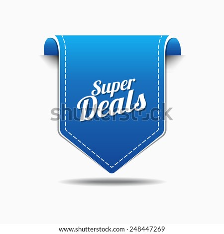 Super Deals Blue Vector Icon Design