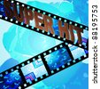 super film. vector background - stock photo