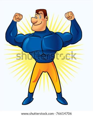 super hero - stock vector