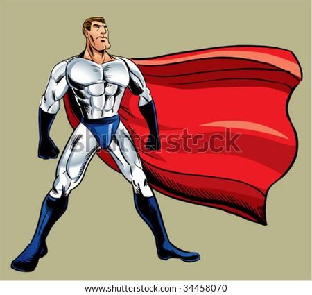 super hero standing pose - stock vector