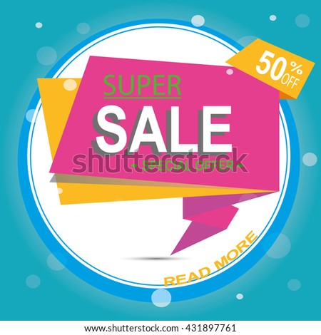 Super Sale Banner Design. Super Sale Vector Tag Banner can use for promotion. Super Sale Background for your promotional brochure or booklet, posters, advertising shopping flyers, discount banners.