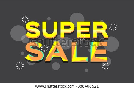 Super sale banner design.Vector illustration