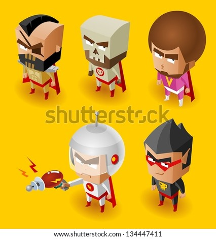Super Villain with evil mind - stock vector