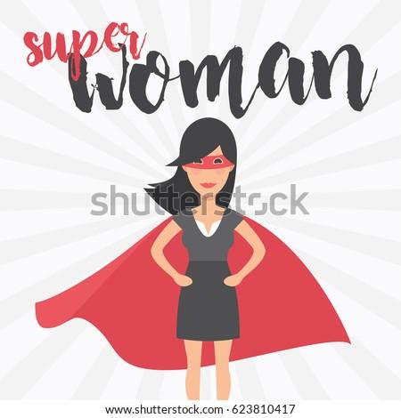 Super Woman Symbol Female Power Woman Stock Vector Royalty Free