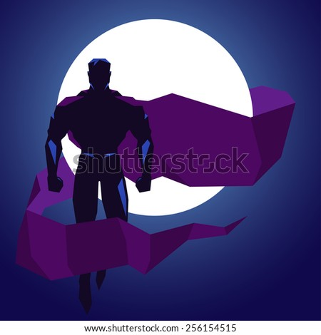 Superhero - stock vector
