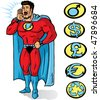 Superhero announcing or yelling something - stock vector
