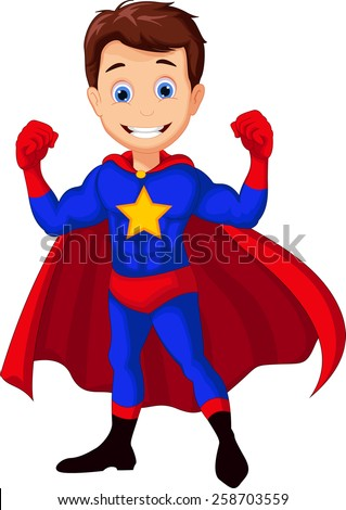 superhero cartoon for you design - stock vector