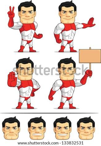 Superhero Customizable Mascot 7 - stock vector