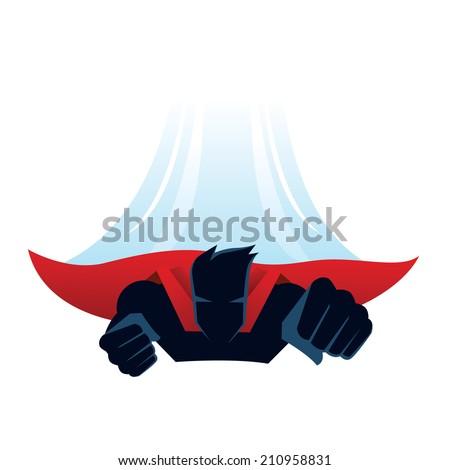 Superhero fly - stock vector