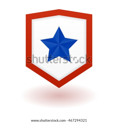 superhero logo template shield star inside stock vector 467294321