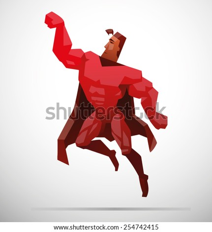 Superhero, vector - stock vector