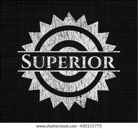 Superior on blackboard - stock vector