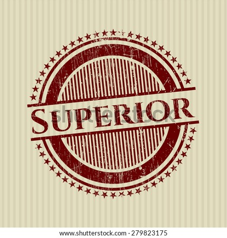 Superior red rubber stamp - stock vector