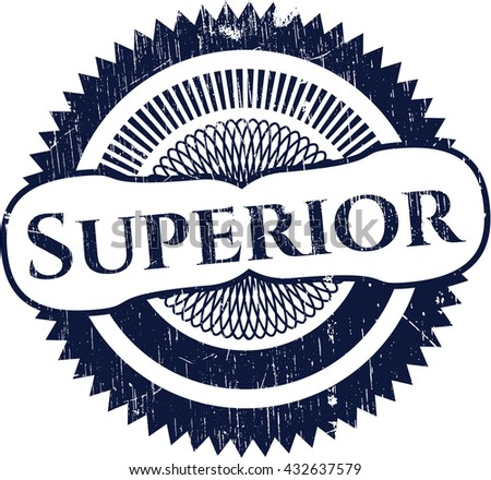 Superior rubber stamp - stock vector