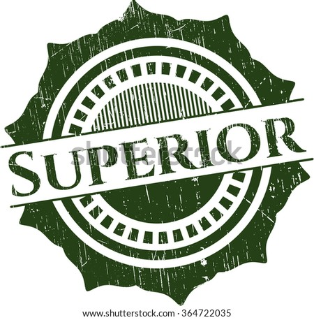 Superior rubber stamp with grunge texture - stock vector