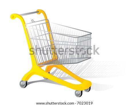 Supermarket cart. Vector illustration. - stock vector