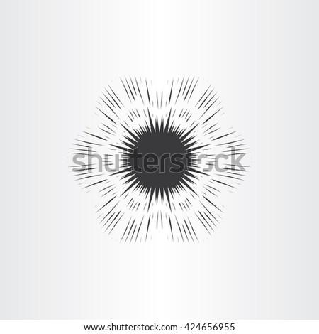 supernova star explosion icon vector design - stock vector