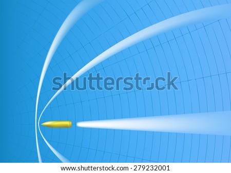 Supersonic bullet - stock vector