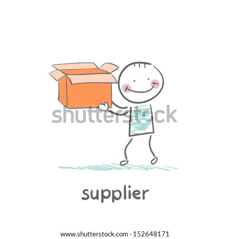 supplier is an empty box - stock vector