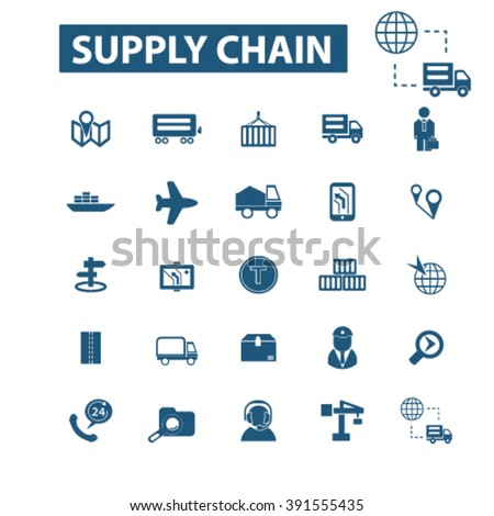 supply chain icons  - stock vector