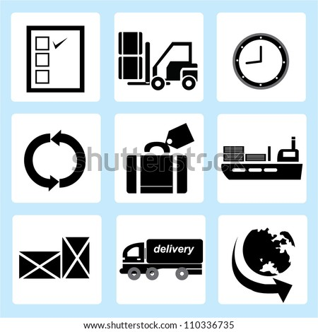 Supply Chain Management Icon Supply Chain Management Icon