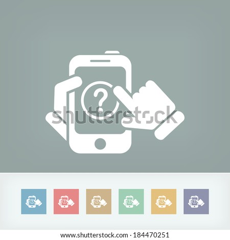 Support device - stock vector