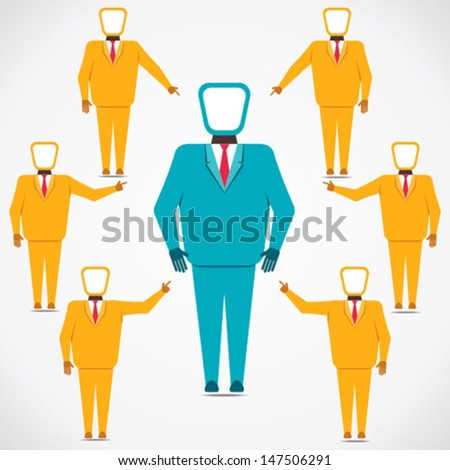support every people to leader vector - stock vector