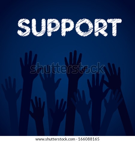 support hand background concept vector - stock vector