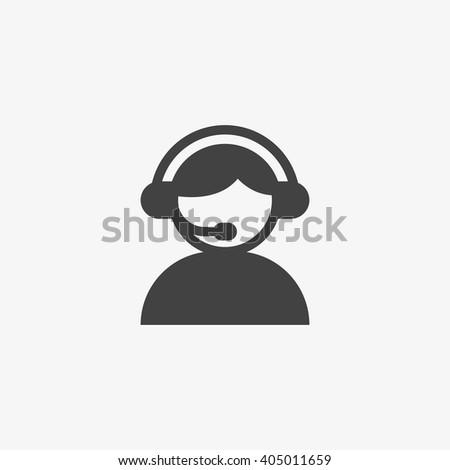Support Icon in trendy flat style isolated on grey background. Call center symbol for your web design, logo, UI. Vector illustration, EPS10. - stock vector