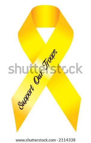 Support our Troops Ribbon - stock vector