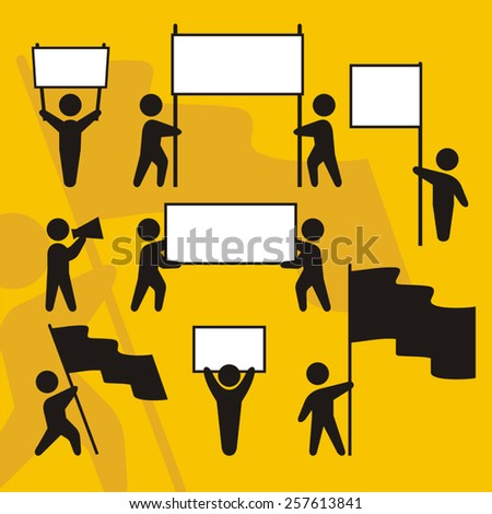 Supporters banners - stock vector