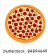 Supreme Pizza from Top View - Vector Illustration. (high resolution JPEG also available). - stock vector