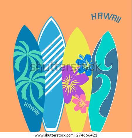 Surf illustration typography. Vector graphics of t-shirts. - stock vector