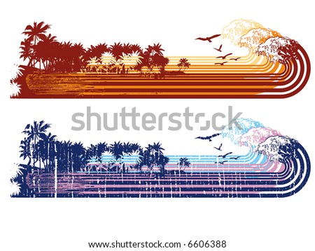 surf vintage guard - stock vector