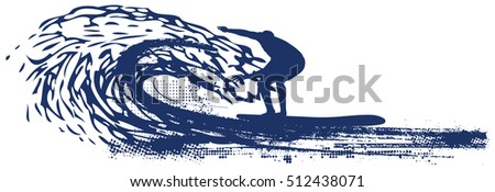 surfer riding pipeline wave
