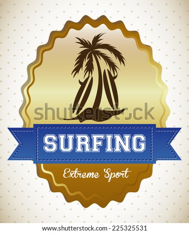 surfing graphic design , vector illustration - stock vector