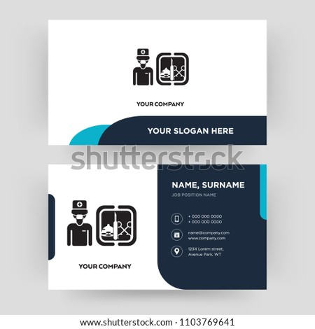 Surgeon business card design template visiting stock vector 2018 surgeon business card design template visiting for your company modern creative and clean colourmoves