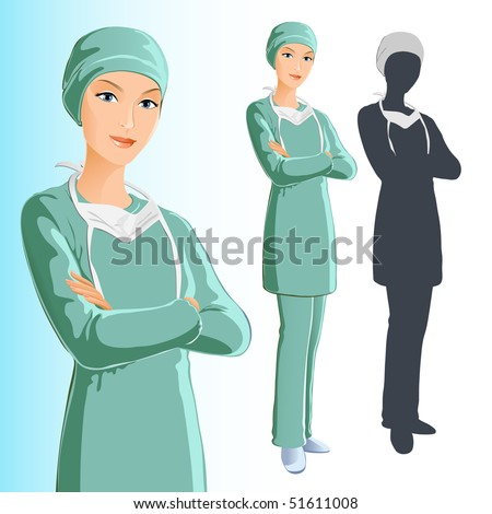 Surgeon (Woman) - stock vector