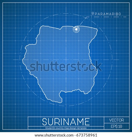 Netherlands blueprint map template capital city stock vector suriname blueprint map template with capital city vector illustration malvernweather Image collections