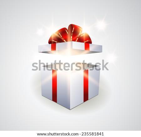 Surprise gift box - stock vector